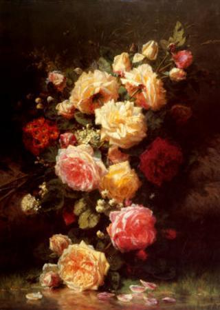 Bouquet de Roses by Jean Baptiste Claude Robie