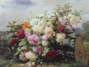Still Life with Flowers by Jean Baptiste Claude Robie