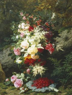 Still Life with Raspberries by Jean Baptiste Claude Robie