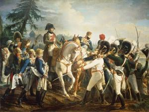 Napoleon and the Bavarian and Wurttemberg Troops in Abensberg, 20th April 1809 by Jean Baptiste Debret