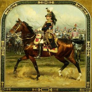 Le General d'Hautpoul a Cheval, 1912 by Jean-Baptiste Edouard Detaille