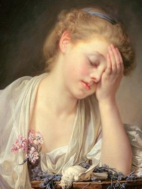A Girl with a Dead Canary, 1765 by Jean Baptiste Greuze