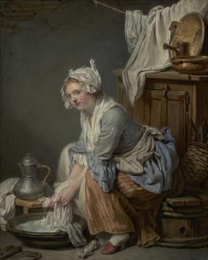 The Laundress, 1761 by Jean-Baptiste Greuze