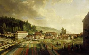 French Royal Textile Factory, Jouy-en-Josas, France, 1806 by Jean-Baptiste Huet