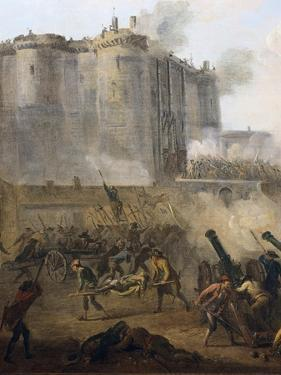 Storming of the Bastille, July 14th 1789 by Jean Baptiste Lallemand