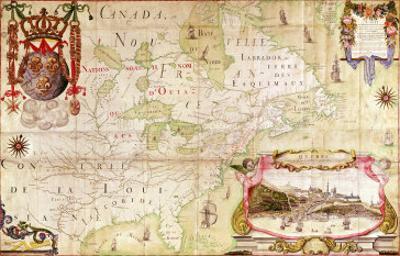 Map of Canada, from Carte de L'Amerique Septentrionale