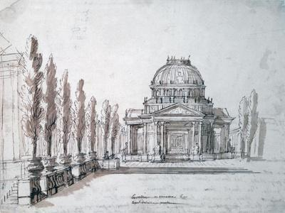 Temple of Apollo, for the Opera Achille and Polyxene, C1687