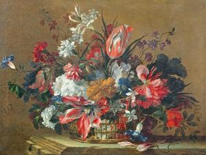 Basket of Flowers by Jean-Baptiste Monnoyer