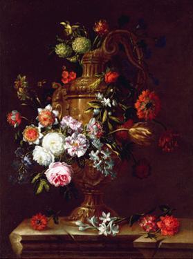 Still Life of flowers in an Urn, 17th century by Jean-Baptiste Monnoyer