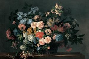 Still Life with Basket of Flowers, C.1690 by Jean-Baptiste Monnoyer