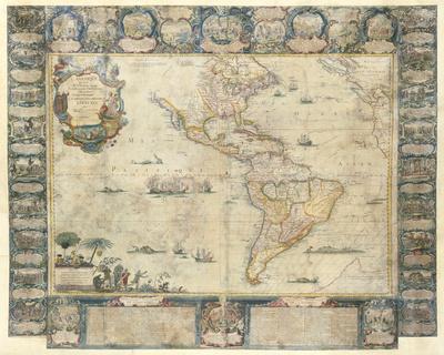 L'Amerique Dedice et Presente a sa Majeste tres Chrestienne Louis XVI, 1740