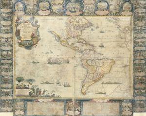 L'Amerique Dedice et Presente a sa Majeste tres Chrestienne Louis XVI, 1740 by Jean Baptiste Nolin