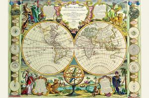 Mappa Monde Carte Universelle De La Terre by Jean Baptiste Nolin