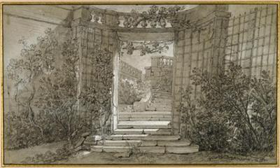 Landscape with a Staircase and a Balustrade, ca. 1744-47