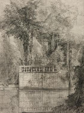 Lattice Work and Reflecting Pool at Arcueil, 1744-47 by Jean-Baptiste Oudry
