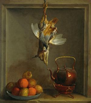 Nature mort aux fruite et gibier, DL 1970-16. by Jean-Baptiste Oudry