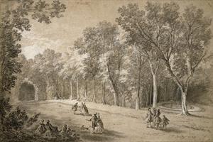 Park Scene by Jean-Baptiste Oudry