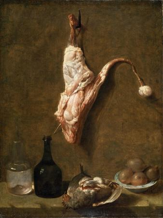 Still Life with a Leg of Veal, French Painting of 18th Century