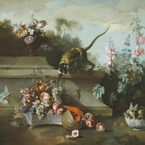 Still Life with Monkey, Fruits, and Flowers, 1724 by Jean-Baptiste Oudry