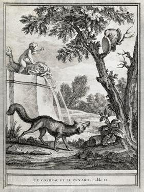 The Crow and the Fox, Illustration by Jean-Baptiste Oudry