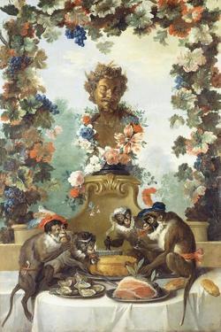 The Feast of the Monkeys by Jean-Baptiste Oudry