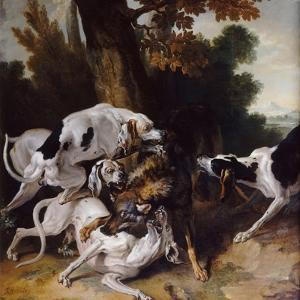 The Wolf Hunt, 1725 by Jean-Baptiste Oudry