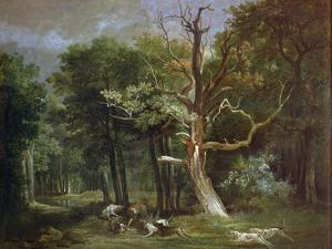 Wolf Hunt in the Forest of Saint-Germain, 1748 by Jean-Baptiste Oudry