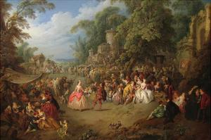 The Fair at Bezons by Jean-Baptiste Pater