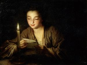 Girl with a Candle, Late 17th or Early 18th Century by Jean-Baptiste Santerre