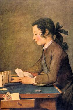 House of Cards by Jean-Baptiste Simeon Chardin