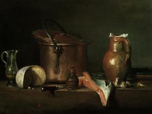 Still-Life With Copper Pot by Jean-Baptiste Simeon Chardin