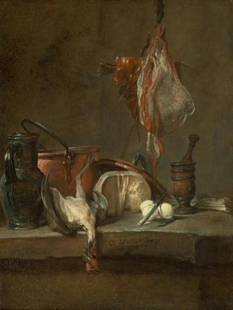 Still Life with Ray and Basket of Onions, 1731 by Jean-Baptiste Simeon Chardin