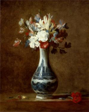 Vase of Flowers by Jean-Baptiste Simeon Chardin