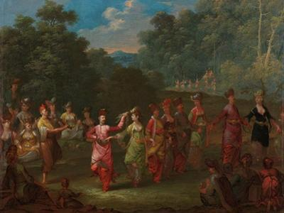 Greek Men and Women Dancing the Khorra, c.1720-37 by Jean Baptiste Vanmour