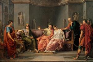 Virgil Reading The Aeneid To Augustus And Octavia by Jean-Baptiste Wicar