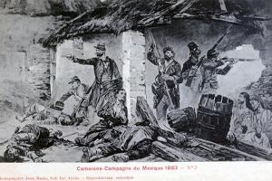 Battle of Camerone, Campaign of Mexico, 1863 by Jean Basin