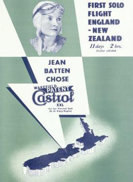 Jean Batten Solo Flight New Zealand