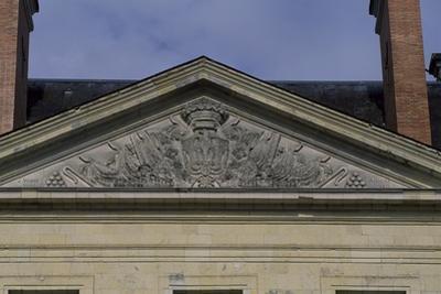 Tympanum of Facade of Chateau De Montgeoffroy, 1772-1776 by Jean Benoit Vincent Barre