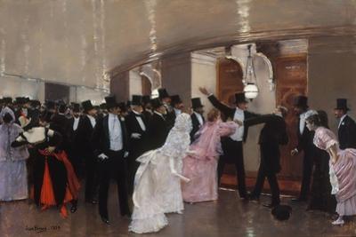 Altercation dans les couloirs de l'Opéra, 1889 by Jean Béraud