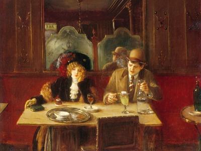 Au café, l'absinthe
