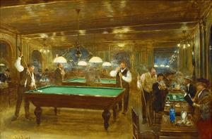 Billiards; Le Billard by Jean Béraud