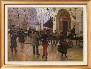 Boulevard des Capucines and The Vaudeville Theatre by Jean Béraud