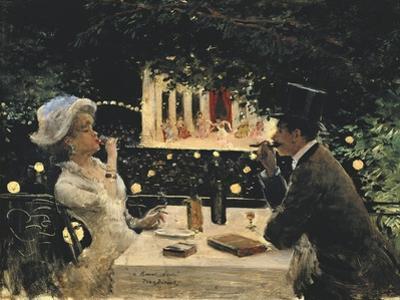 Dinner at Les Ambassadeurs by Jean Béraud