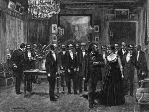 Gambetta at a Salon by Jean Béraud