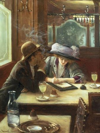 La Lettre, 1908 by Jean Béraud