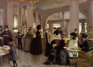 La Patisserie Gloppe, Champs Elysees, Paris, 1889 by Jean Béraud