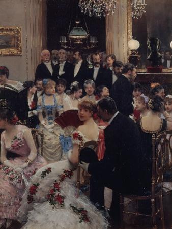La Soirée ou autour du piano by Jean Béraud