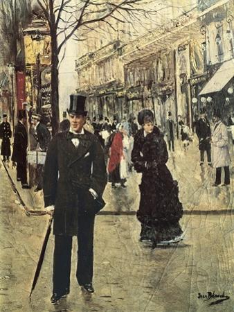 On the Boulevard by Jean Béraud