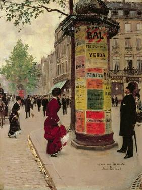 Paris Kiosk, Early 1880s by Jean Béraud