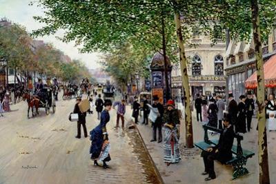 Parisian Street Scene by Jean Béraud